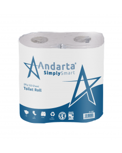 Andarta 2Ply 320 Sheet Toilet Roll