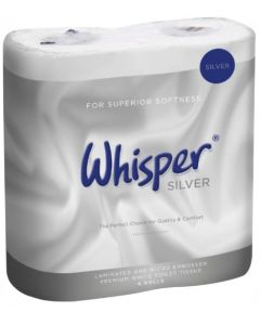 Whisper Silver 2Ply Soft Touch Toilet Roll