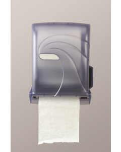 Tear & Dry White Hands Free Roll Towel Dispenser (Stub Roll)