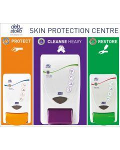 Deb 3-Step Small Skin Care Board Protect/Restore/Lime