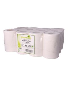 1Ply White 120m Mini Centrefeed Roll (Pack 12)