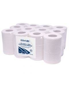 2Ply White Mini Centre Feed Roll