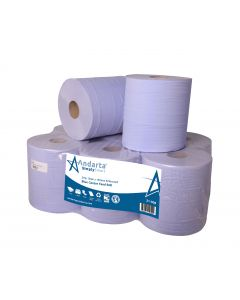 Andarta 2Ply Blue Embossed 150m Centre Feed Roll