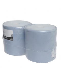 Andarta 2Ply Blue Embossed Floorstand Roll (Pack of 2)
