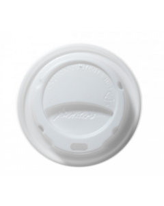 25/30cl Domed Hot Cup Lid White