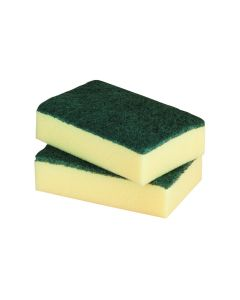 """6"""" x 4"""" Sponge Backed Scourer (Pack 6)"""