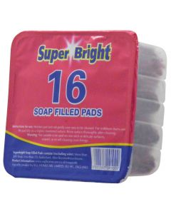 Super Bright Soap Filled Pads (Pack of 16)
