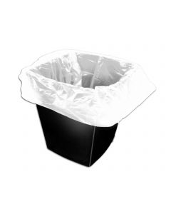 White Light Duty Square Bin Liner  15x24x24 (Box 1000)