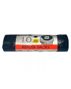 Black Medium Duty Drawstring Sack Roll 10