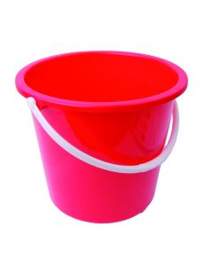 10Ltr Plastic Bucket Red