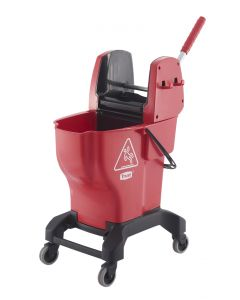 Mop Bucket and Wringer - Red