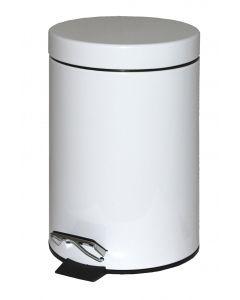 3Ltr Metal Pedal Bin White (1 x Pedal Bin)