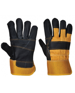 Canadian Rigger Style Split Leather Gloves (10 Pairs)