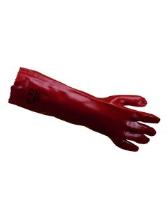 PVC 45cm Gauntlets Red