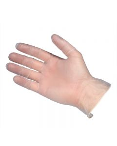Clear Powderfree Vinyl Gloves Large(Box 100)