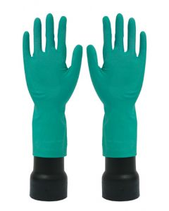 Rubber Gloves M/W Green Large (12 Pairs)