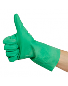 Rubber Gloves M/W Green (12 Pairs)