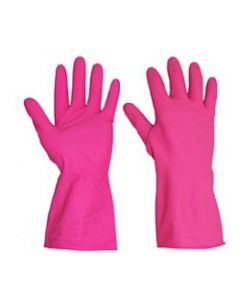 Rubber Gloves M/W Red Medium (12 Pairs)