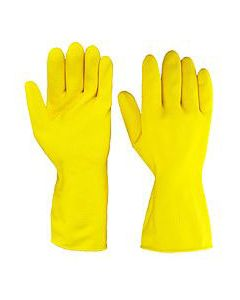 Rubber Gloves M/W Yellow Large (12 Pairs)