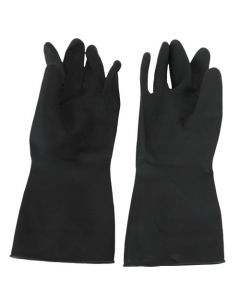 Rubber Gloves H/W Black Large
