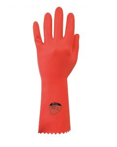 Optima Medium Weight Natural Rubber Glove Red Medium (7-7.5)