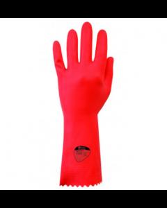 Optima Medium Weight Natural Rubber Glove (Red) (12 Pairs)
