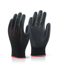 PU Palm Coated Gloves Black XLarge