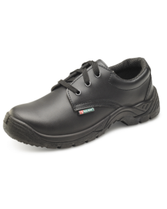 Black Smooth Tie Safety Shoe Size 7 Eur 41