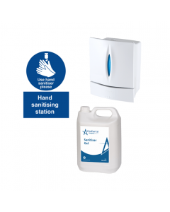 Complete Hand Sanitiser Station Kit - Manual Dispenser