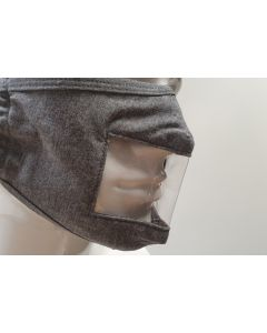 Re-usable Face Mask with Vision Panel - Grey (Pack of 5)