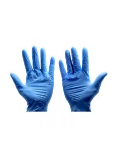 Blue Nitrile Gloves Large (Box of 100)