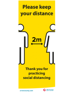 Please Keep Your Distance Banner (2 Metre)